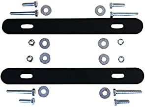 Alubox 19tr220 Kit van dwarsbalken voor bevestiging op omheining van de brievenbus Mia, zwart