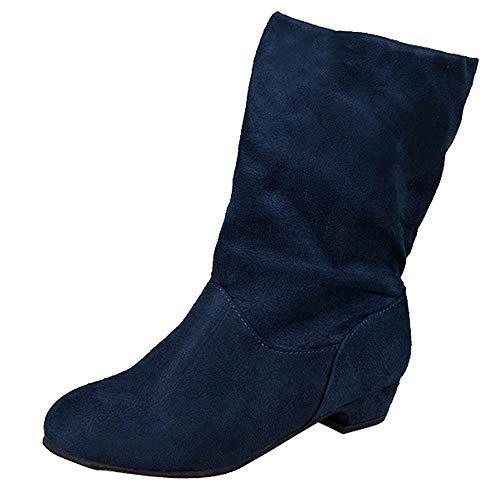 Damen Stiefel mit Absatz Chelsea Stiefeletten Slip on 3 cm Elastischer Herbst Hochzeit High Heel Ankle Boots,Sneaker Damen Schwarz41,Heißer