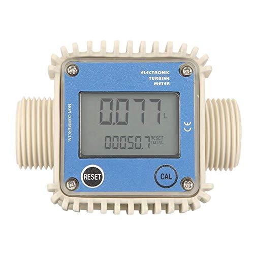 WNJ-TOOL, K24-LCD-Turbine Digital Fuel Wasserschlauch-Durchflussmesser Am Meisten Benutzt for Chemikalien Wasser-Blau (Farbe : Blue)