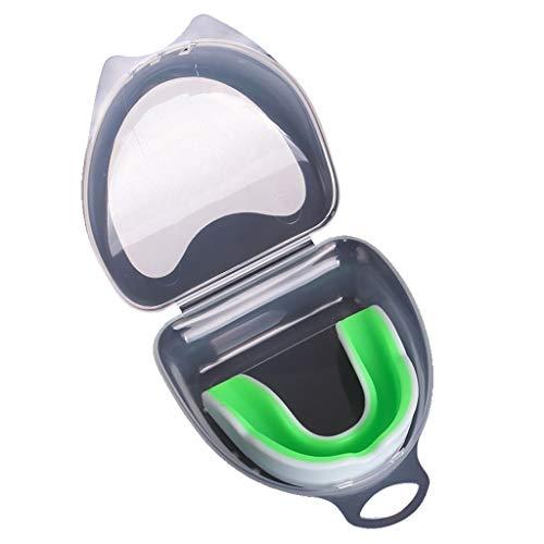 LDDLDG Protector bucal de protección bucal moldeable para deportes de protección de dientes, protección bucal juvenil con caja de plástico para niños adultos rugby, boxeo, hockey Mma karate, artes marciales, verde