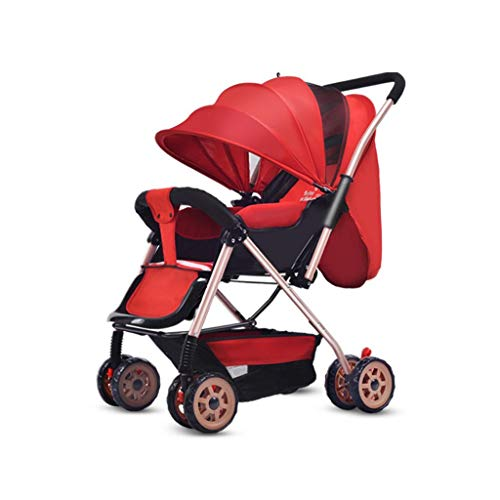 Buy Queen Boutiques Baby Stroller High Landscape Folding Steel Tube Trolley with Adjustable Backrest...