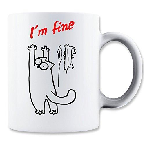 MaikesTic I'm Fine Simons Cat Mug