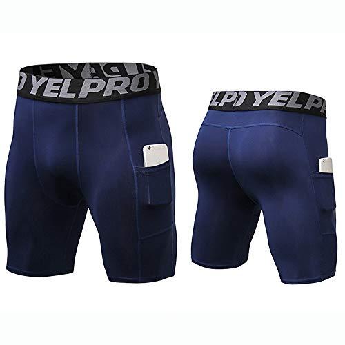 AILTAL Heren korte compressie running panty's broeken, snelle droge sportschool strakke shorts met Pocket sport panty's running shorts mannen sport ondergoed