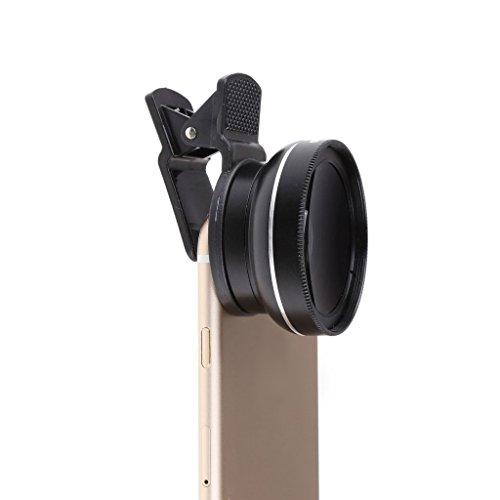 PETSOLA 37mm 0.45X Estuche con Kit de Lentes de Cámara Macro Gran Angular para 5 5S 6 6S