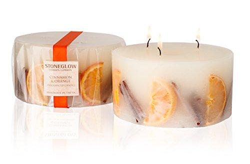 Stoneglow Cinnamon & Orange Inclusion Scented Candle 3 Wick