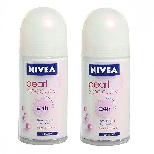 2 X Nivea Pearl Beauty Roll On for Women- 50ml (Pack of 2) - Styledivahub