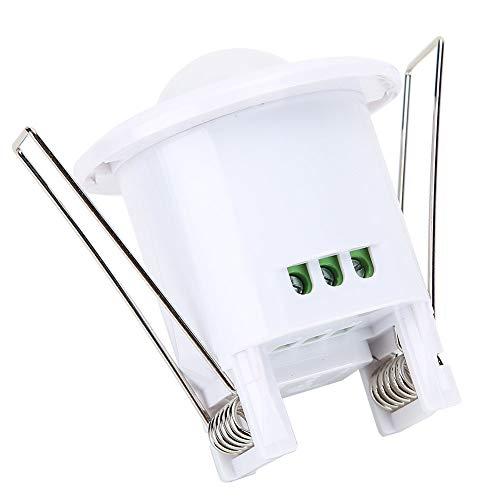 Interruptor De Sensor PIR, Interruptor LED Sensible Y Seguro Conveniente para Pasillos, Baños, Sótanos, Almacenes para Iluminación Activada por Movimiento