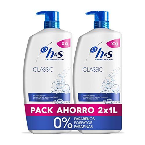 H&S Champú Classic Anticaspa Champú para todo tipo de pelo pH equilibrado 2 Champús 1000 ml