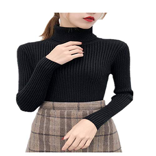 LILIZHAN Herfst Winter Vrouwen Gebreide Coltrui Casual Softneck Jumper Mode Slim Femme Elasticiteit Pullovers