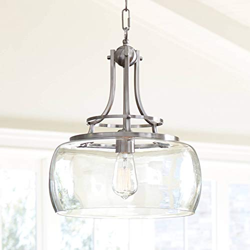 Charleston Brushed Nickel Pendant Light 13 1/2