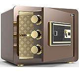 Caja fuerte de seguridad, oficina en casa Caja de seguridad electrónica digital / de huellas dactilares, caja fuerte con cerradura de acero de alta seguridad Caja fuerte compacta para trabajo pesado