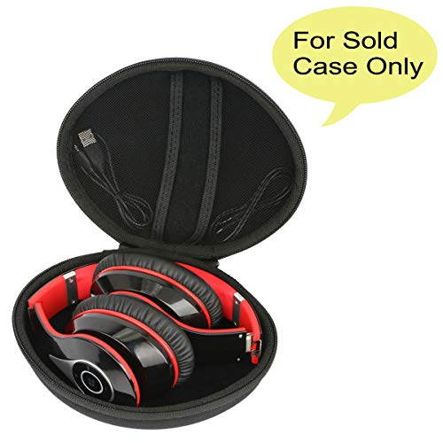 Duro Viajar Caso Cubrir para Mpow 059 Cascos Bluetooth Inalambricos por co2CREA (Negro)