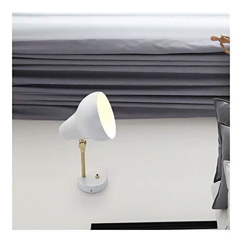 RTRY Luminaria de la Pared rústica de Pared réplica Moderna VL38 Enciende la lámpara llevó los Accesorios de Dormitorio Creativas de Pared AJ Blanco y Negro / (Lampshade Color : White)