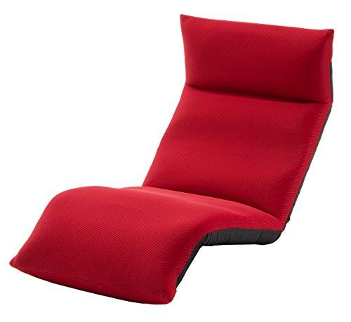 セルタン 日本製 高反発 座椅子 和楽の雲 LIGHT 下タイプ メッシュレッド 頭部脚部リクライニング A448下a-504RED