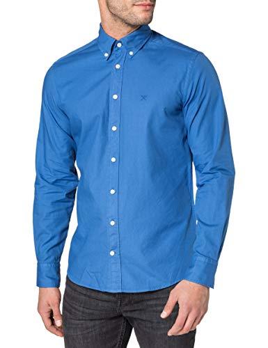 Hackett London Garment Dye Oxford Camisa, 5 mjmarina, L para Hombre