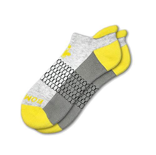 Bombas Women's Originals Ankle Socks (Grey/Yellow, Medium)