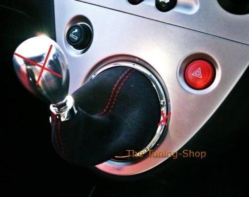 Für Honda Civic 01–05EP3Schaltsack Schaltmanschette schwarz Alcantara Wildleder mit roter Naht