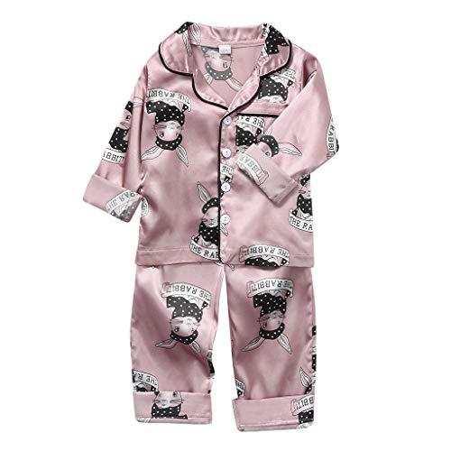 Julhold Bebé Niños Dibujos Animados Oso Manga Larga Tops+Pantalones Pijamas Bebé Ropa de Dormir Trajes