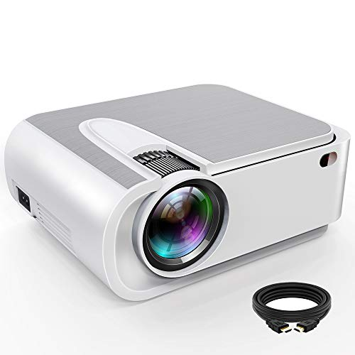 """XINDA Projector, XINDA Projector with 4600 Lumen,220"""" Display Video Projector.Home Theater Projector 1080P Supported,Compatible with Fire TV Stick,Smartphone,PS4,HDMI,TF,VGA,AV USB"""