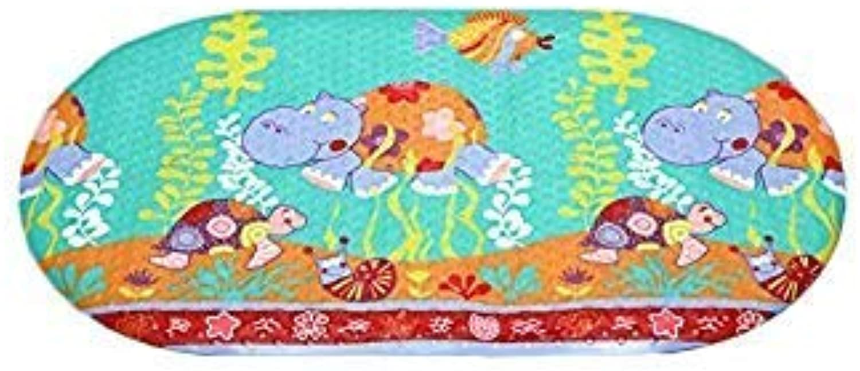 1Pc 69x39cm Bath Mat PVC Material Hippo Design Non Slip Mat Summer Item for Kids Bathroom
