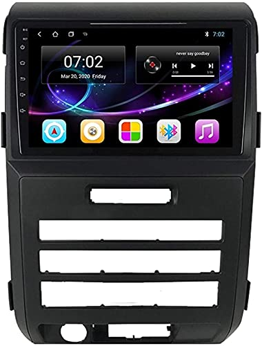 Radio de navegación GPS Android 10.0 compatible con Ford F150 P415 Raptor 2008-2014 Unidad principal de navegación GPS Pantalla táctil de 9 pulgadas Reproductor multimedia HD Video MP5 con WiFi DSP