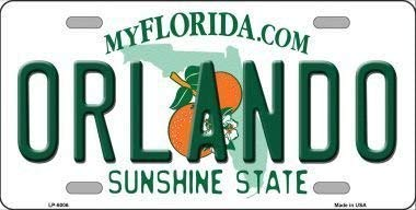 DOGT Orlando Florida Novelty Metal License Plate Size: Approx. 20 * 30cm/ 7.8 * 11.8 inch(L * W)