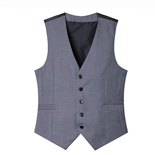 MYLJX Hochzeitskleid, Anzugsweste aus Baumwolle, für Herren, modisches Design Gr. M, Dunkelgrau