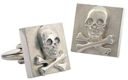 ZAUNICK Skull im Quadrat Totenkopf Manschettenknöpfe Silber 925 handgefertigt