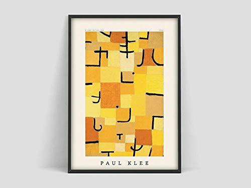 Cartel, cartel amarillo, minimalismo moderno, arte de pared Klee, galería de pared, cartel de exposición, decoración sin marco para el hogar A 60x80cm