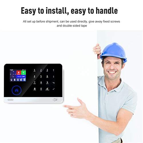 ZJH Smart-Home-Shop Tür Und Fenster Anti-Diebstahl-Alarm 3G + WiFi Wireless-Alarm-Sicherheitssystem