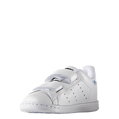 adidas Originals Stan Smith CF I, Zapatillas Unisex niños, Plateado (Metallic Silver-Solid/Metallic Silver-Solid/Footwear White 0), 27 EU