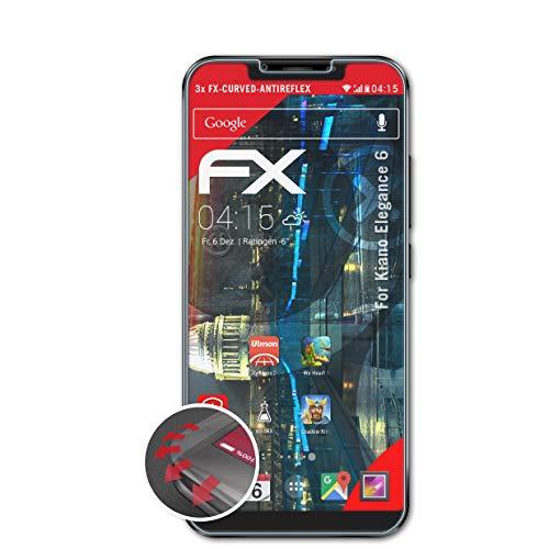 atFolix Schutzfolie kompatibel mit Kiano Elegance 6 Folie, entspiegelnde & Flexible FX Bildschirmschutzfolie (3X)