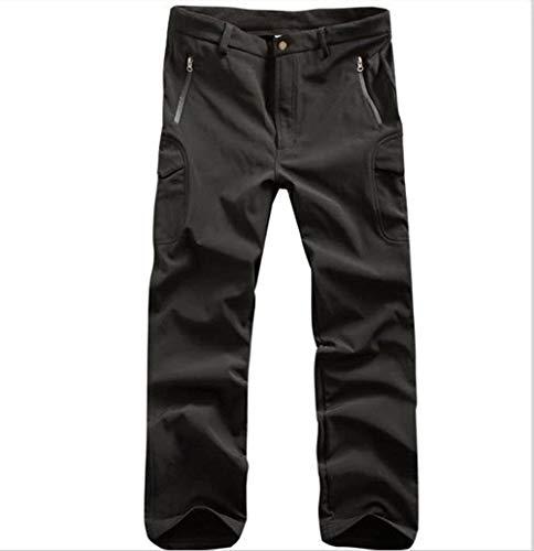 QFL Kampierende wasserdichte beiläufige Hosen, warme Hosen tragen, for Herren Outdoor-Jagd Alle Metallmaterialien (Color : Black, Size : XXL)