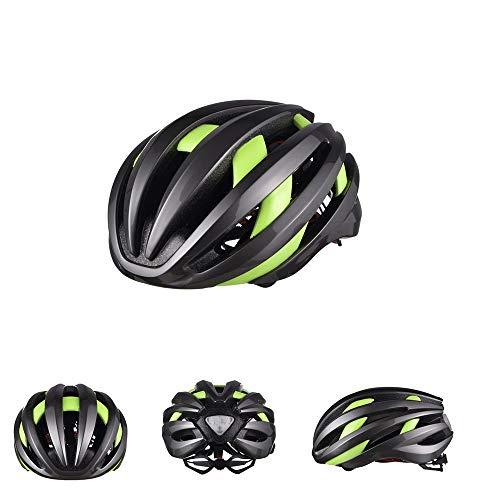 boaber Casco LED inteligente con Bluetooth, para montar en bicicleta, para hombre y mujer, transpirable, color verde