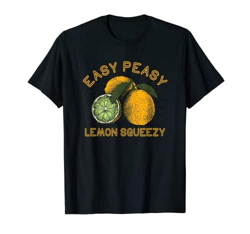 Easy Peasy レモンスクイーズ 面白いレモンサマーレモネード Tシャツ