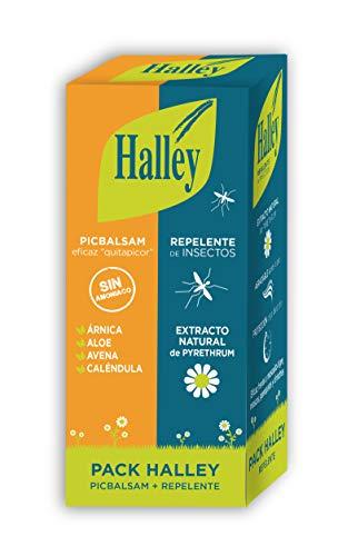 HALLEY Pack Repelente Insectos 150 ml + Picbalsam 40 ml Eficaz en Mosquito Tigre y Garrapatas I Alivio de las molestias por Insectos, Medusas o Plantas