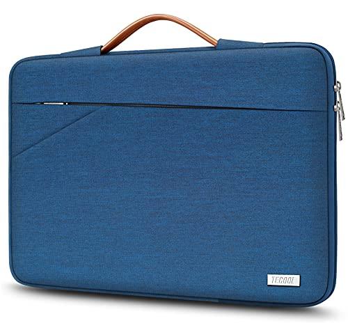 TECOOL 13-13,3 Zoll Laptop Hülle Tasche für MacBook Air 2012-2020 M1, MacBook Pro, HP Dell ASUS Notebook Tablet, Surface Laptop Computer Tragetasche Schutzhülle Sleeve mit Griff, Blau
