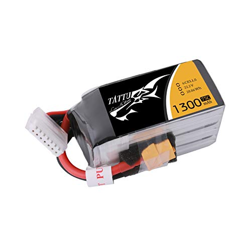 TATTU 1300mah 6S 75C FPV LiPo Battery with XT60 Plug for FPV Mini Quad Racing Drone IRC Vortex 250 Pro Lumenier QAV210 Charpu Edition QAV180 Raceblade ZMR250
