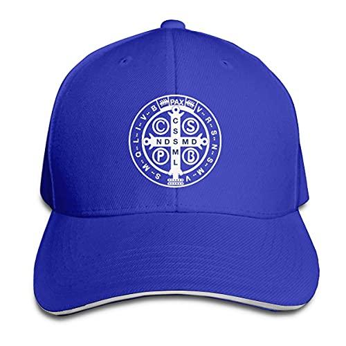 485 Sombrero De Visera Medalla De San Benito Sombrero De Papá Transpirable Gorra Trucker para Sport Pesca Ciclismo