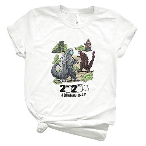 Godzilla 2020 Quarantined Shirt Córónávírús Godzilla Cool Summer Tee Summer Fashion Shirt Teen Girl Trendy Shirt Shirt For Men Tee Women Hot Fashionable Sellers Trend