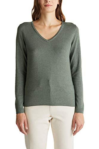 ESPRIT Damen 999CC1I801 Pullover, Grün (Khaki Green 5 354) - 2019, S