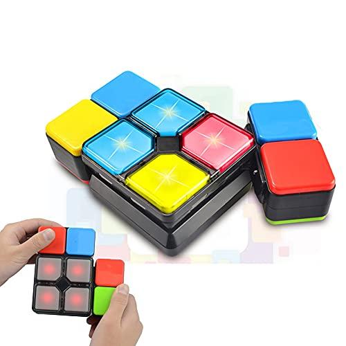 BAISIQI Cadeaux pour 6-12 ans Garçons Filles Joy-Fun Magic Cube de Vitesse 4 Modes Électronique Jouet pour Les Adolescents Puzzle Fête Petits pour des gamins Cadeaux Anniversaire Noël