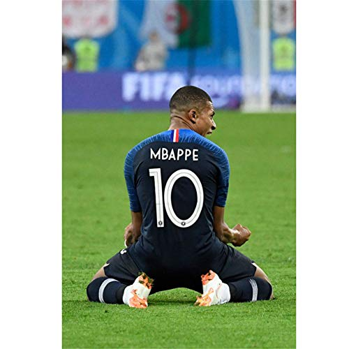 Kylian Mbappe France Football Sport Player Star Art Poster Canvas Painting Home Decor 60x90cm sin Marco