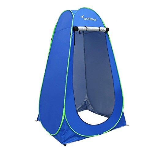 Sportneer Pop Up Privacy Bathroom Tent, Portable Dressing Changing Room Privacy Shelter Tents for Outdoor Camping Beach Toilet and Indoor Photo Shoot with Carrying Bag, 6.25 ft Tall