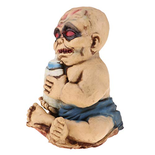 F Fityle Latex Zombie Evil Baby W. Red Eyes Scary Dolls Halloween Decor
