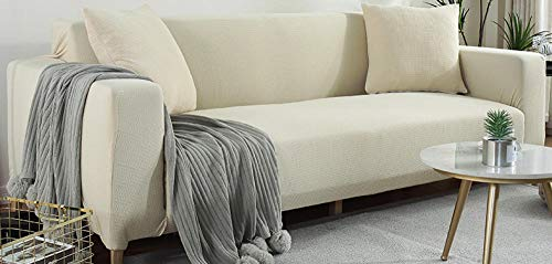 Universal Cubierta para Sofá,Funda de sofá jacquard elástica tejida, moderna y sencilla funda de cojín antideslizante universal de cuatro estaciones, funda de protección contra el polvo de los mueble