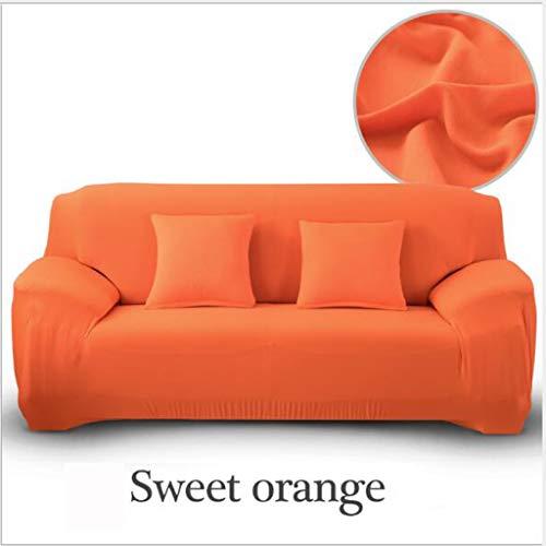 Gxzdfdztygh Funda sofá de 2 plazas con diseño en Forma de L, Protector para Sofá de Poliéster y Spandex Color Sólido, Adecuado para sofás modulares, sofás Forma L, sofás rectangulares, etc