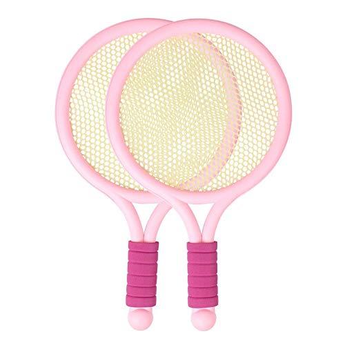 Raquetas De Tenis Para Niños Juguete De Tenis De 3 A 6 Años Juego Deportes De Interior Tenis Mujeres (Color : Pink, Size : 39 * 23.5cm)