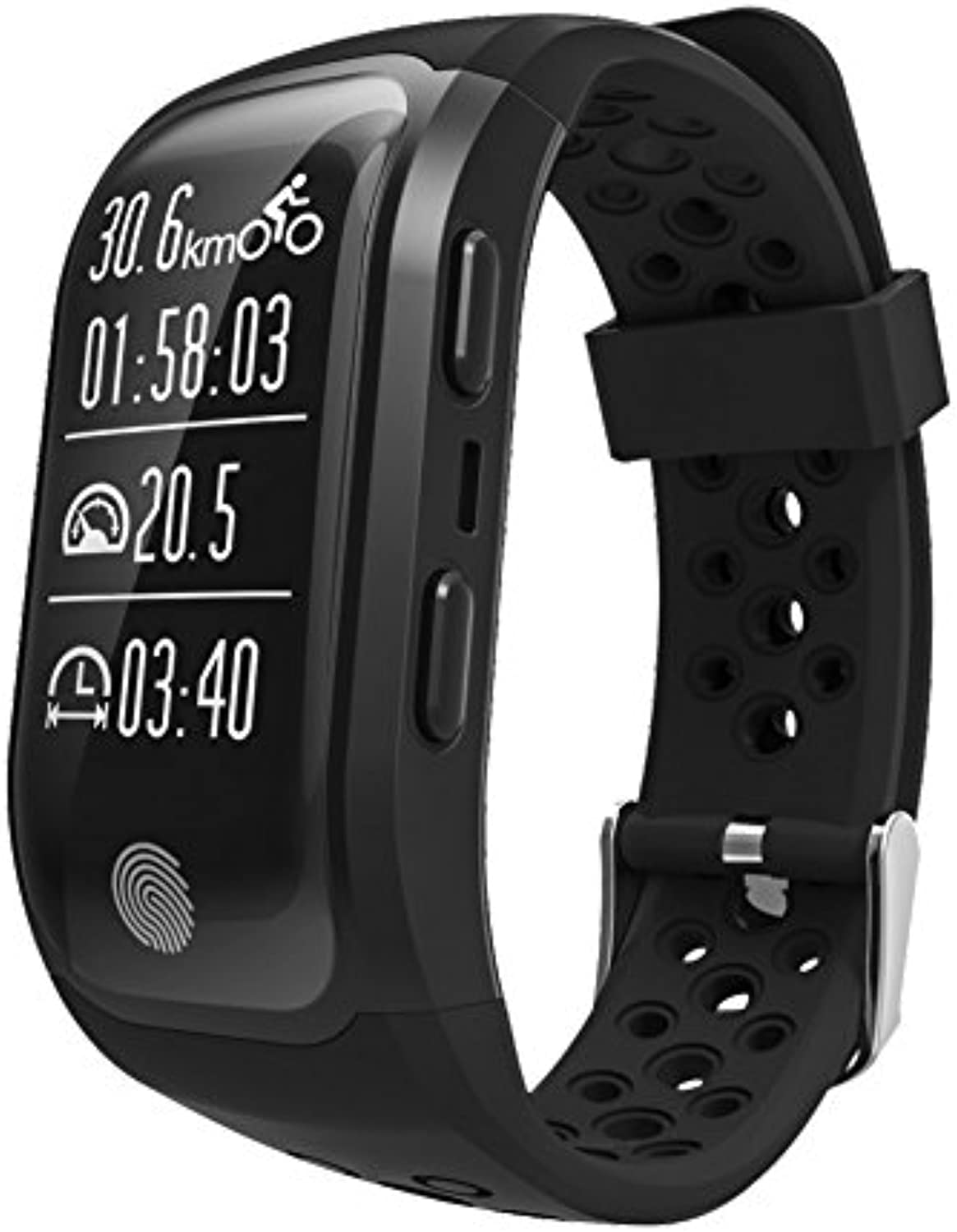 S908 GPS IP69 Waterproof Smart Belt Helps Improve Sleep Quality, Heart Rate superviseing, and Encourages and Supervises Your Own Exercise Smartwatch-Black