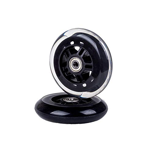 2Pcs Scooter Replacement Wheels 100mm for Scooter with Bearings, Black